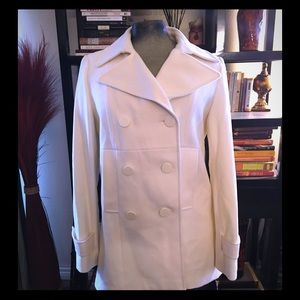 NWT New York & co. Cream wool blend pea coat